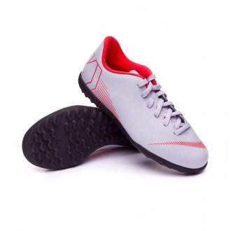 Zapatilla  Nike Mercurial VaporX XII Club GS Turf Niño Wolf grey-Light crimson-Black