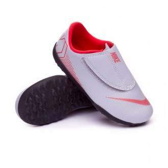 Zapatilla  Nike Mercurial VaporX XII Club PS Velcro Turf Niño Wolf grey-Light crimson-Black