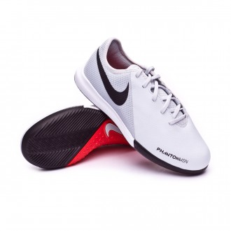 Futsal Boot  Nike Kids Phantom Vision Academy IC  Pure platinum-Light crimson-White