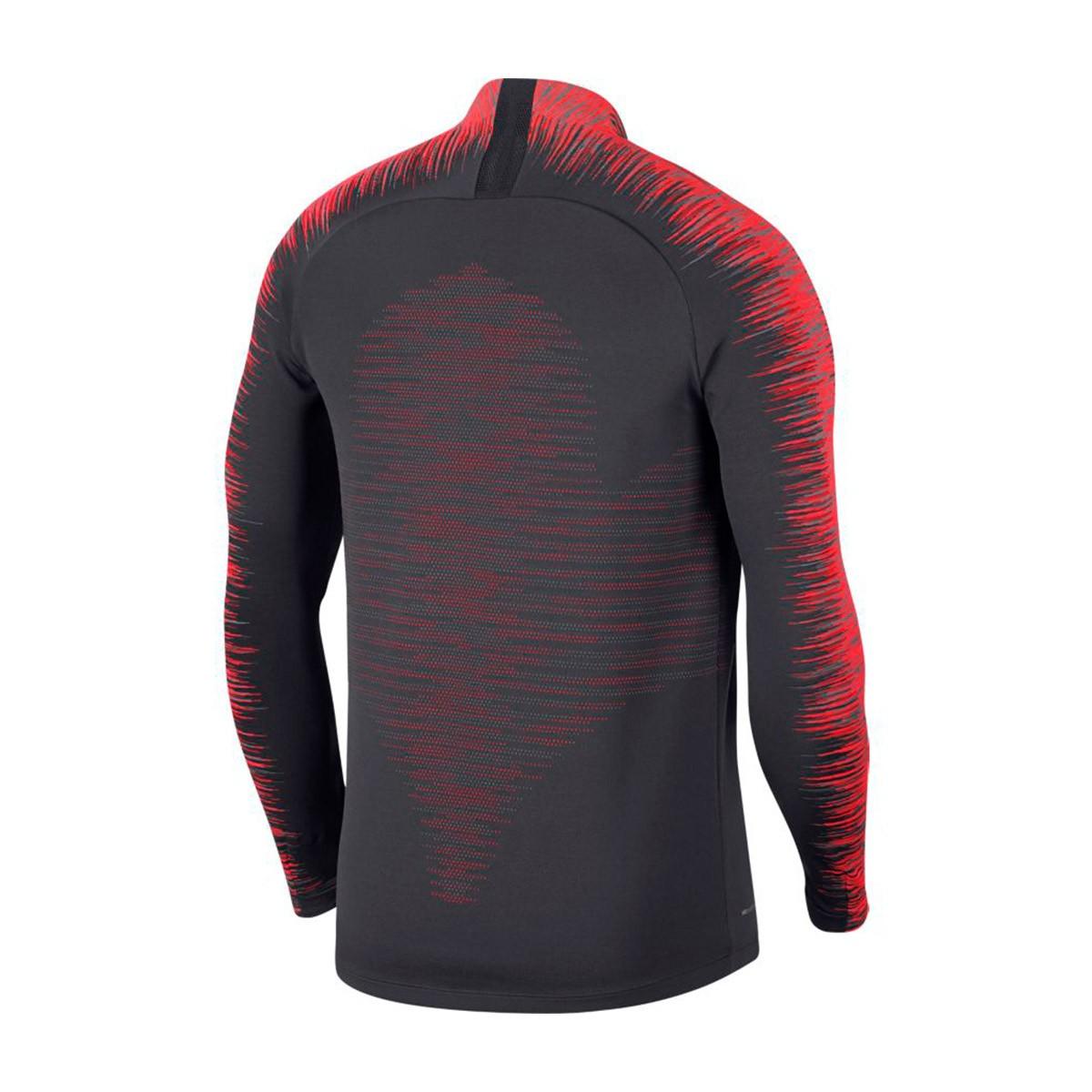 f993c3a11f34 Sweatshirt Nike VaporKnit Strike Dril Anthracite-Bright crimson ...