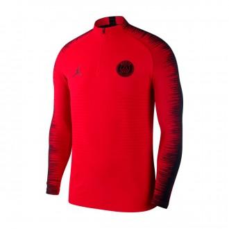 Sweatshirt  Nike Paris Saint-Germain VaporKnit Strike Dril CL 2018-2019 University red-Black