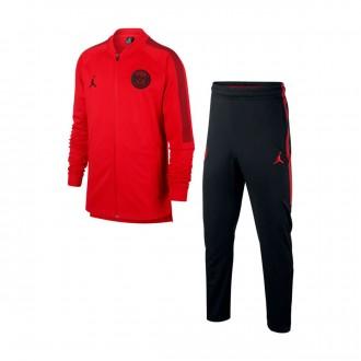 Tracksuit  Nike Paris Saint-Germain Dry Squad K CL 2018-2019 Niño University red-Black