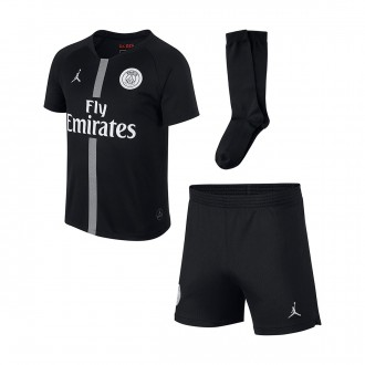 Kit  Nike Kids Paris Saint-Germain 2018-2019 Third Black-White