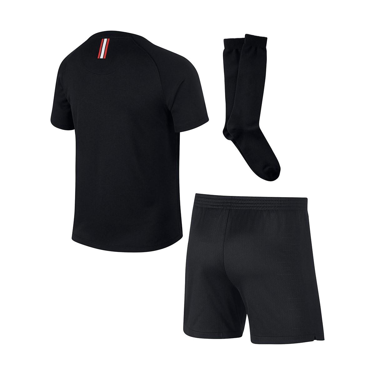 Conjunto Nike Paris Saint-Germain Tercera Equipación 2018-2019 Niño  Black-White - Soloporteros es ahora Fútbol Emotion 3d6fdf93a22dc