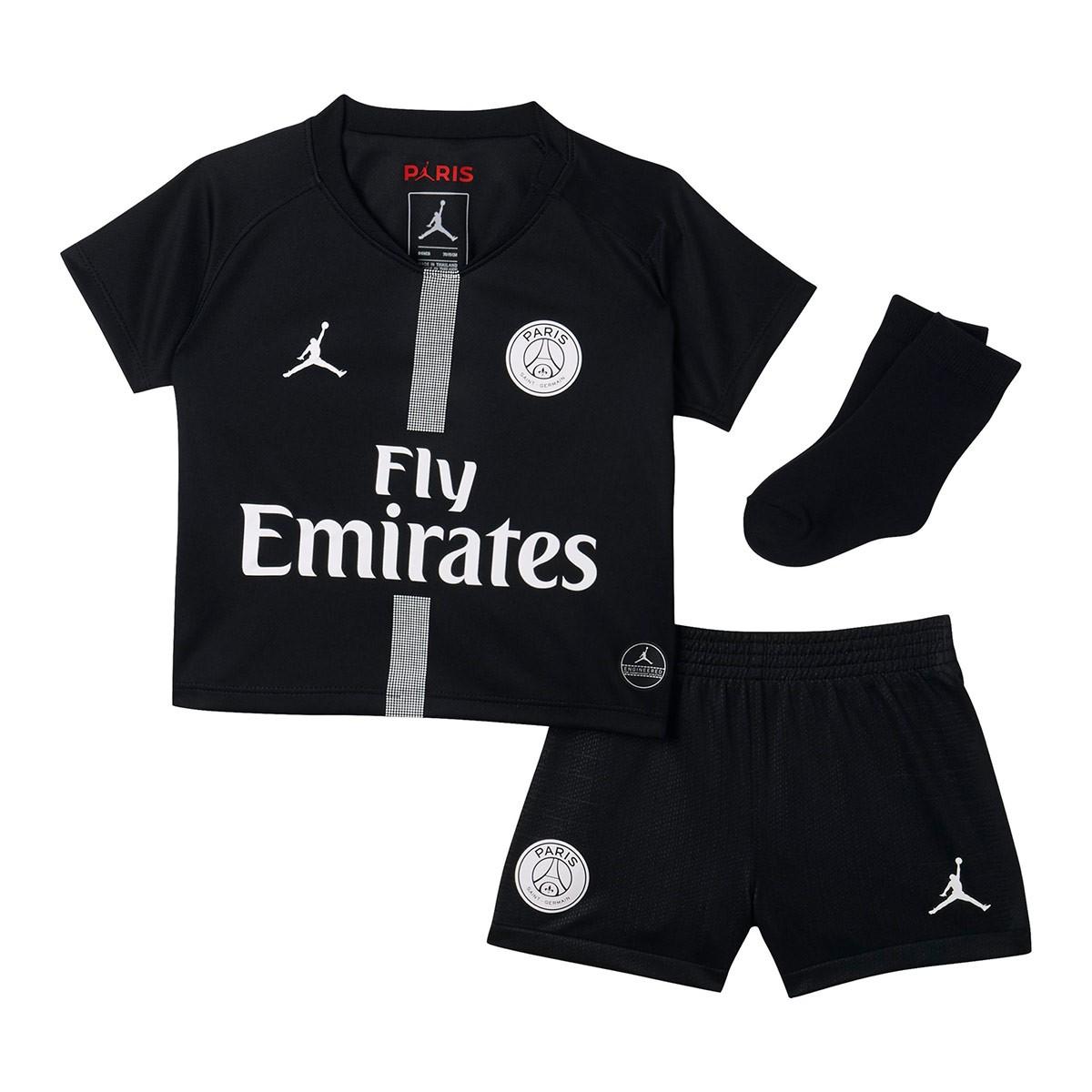 028400372d9f8 Kit Nike Kids Paris Saint-Germain 2018-2019 Third Black-White ...
