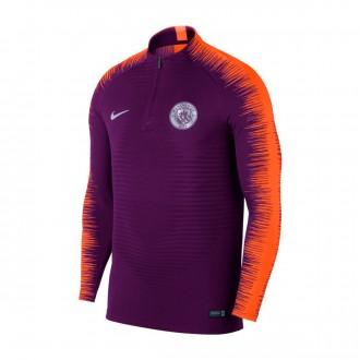Sweatshirt  Nike VaporKnit Strike Manchester City FC 2018-2019 Night purple-Safety orange