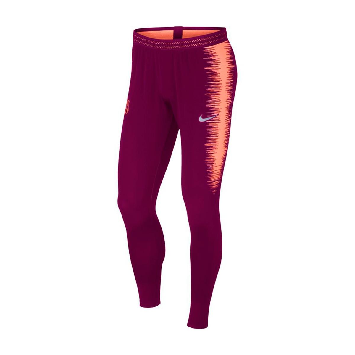 Pantalon Largo Nike Vaporknit Strike Fc Barcelona 2018 2019 Deep Maroon Light Atomic Pink Futbol Emotion