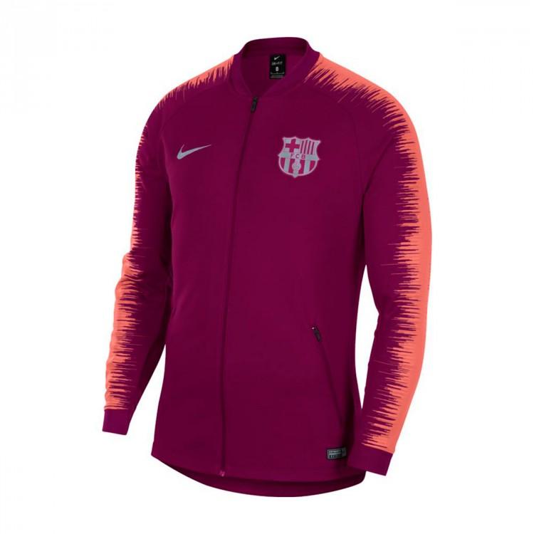 Jacket Nike FC Barcelona 2018-2019 Deep maroon-Light atomic pink ... b8ba86b34