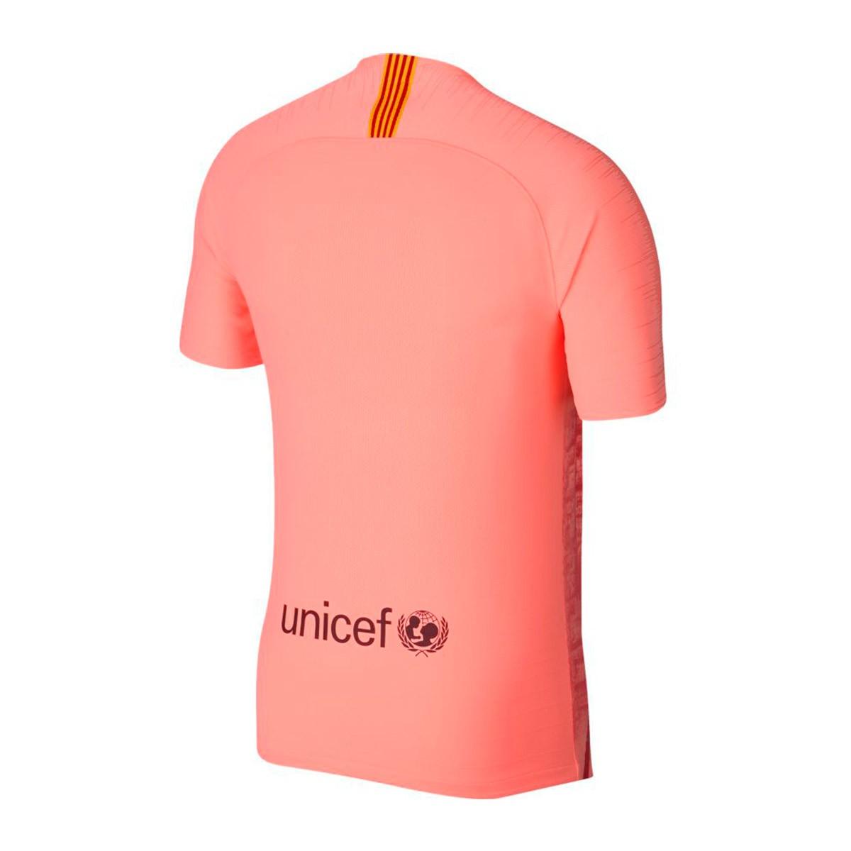 3e0e9c1a591 Nike Vapor FC Barcelona Match 2018-2019 Jersey. Light atomic pink-Silver ...