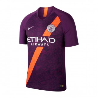 Camisola  Nike Vapor Manchester City FC Match Primera Equipación 2018-2019 Night purple