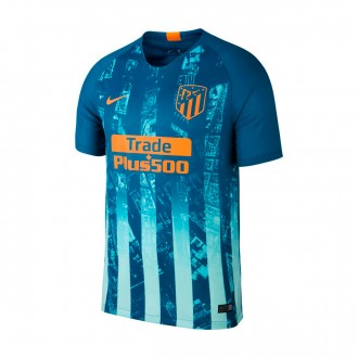 Camisola  Nike Atletico de Madrid Stadium Tercera Equipación 2018-2019 Green abyss-Orange peel
