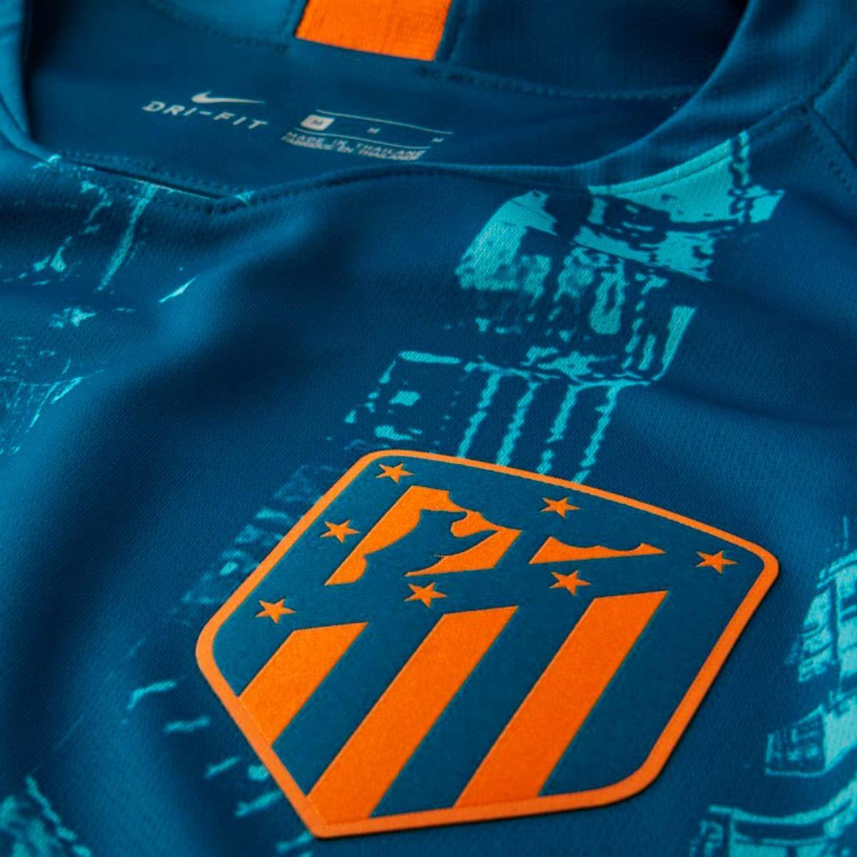 89ab72544bb59 Camiseta Nike Atletico de Madrid Stadium Tercera Equipación 2018-2019 Green  abyss-Orange peel - Tienda de fútbol Fútbol Emotion