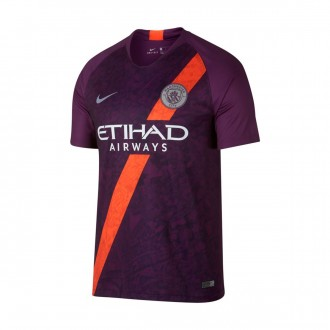 Camisola  Nike Manchester City FC Stadium Tercera Equipación 2018-2019 Night purple