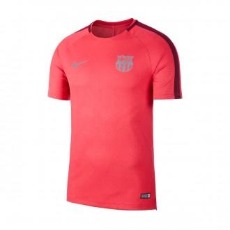 Camiseta  Nike Dry FC Barcelona Squad 2018-2019 Tropical pink-Deep maroon