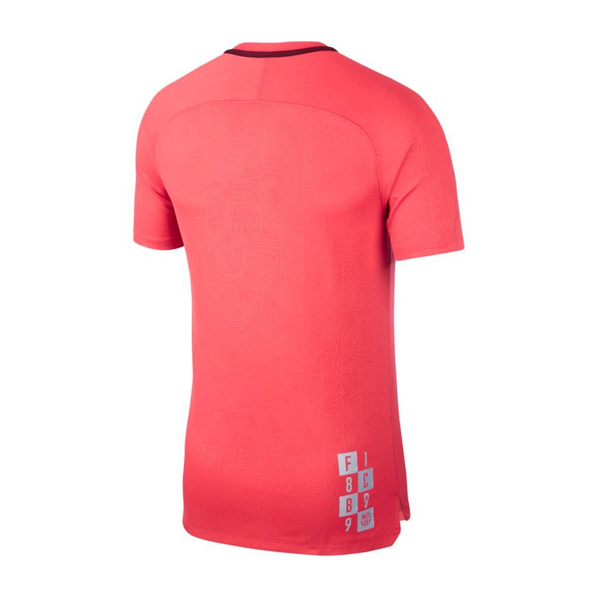 7bfc22d71fb Nike Dry FC Barcelona Squad 2018-2019 Jersey. Tropical pink-Deep ...