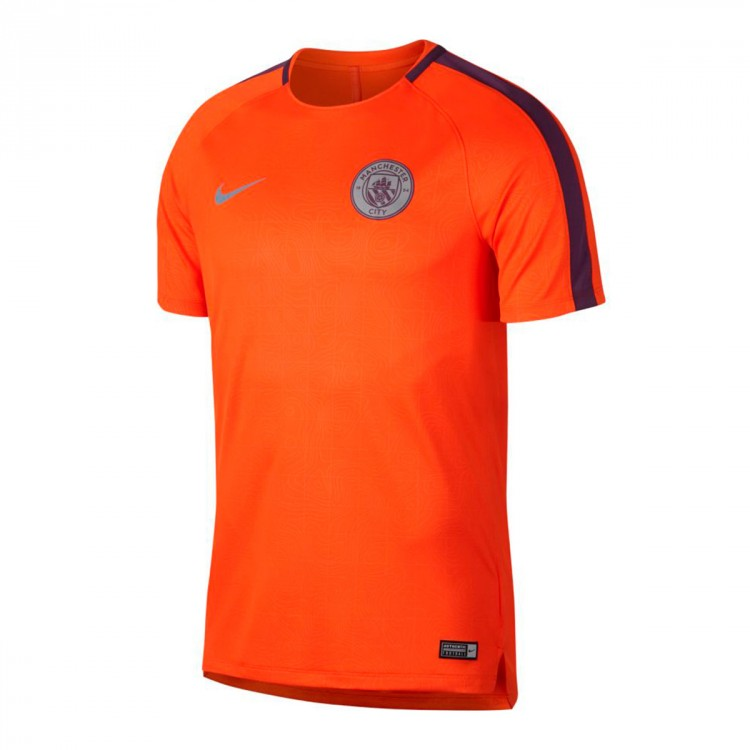 low priced c92f8 27694 Camiseta Dry Manchester City FC Squad 2018-2019 Safety orange-Night purple