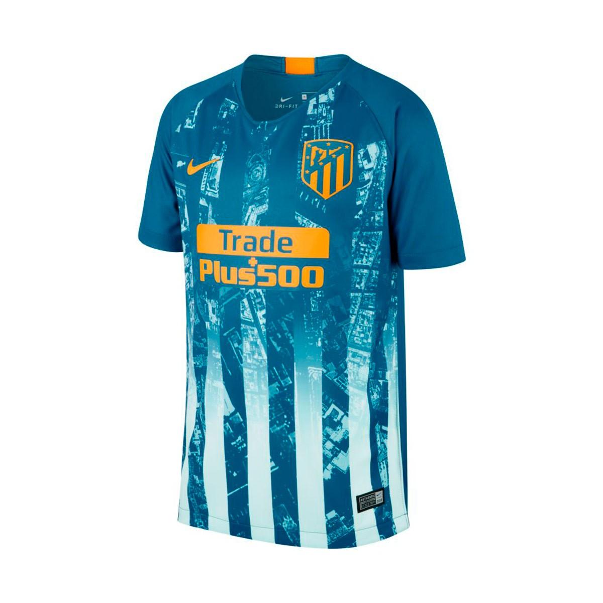 dac37dec5eb8c Camiseta Nike Atletico de Madrid Stadium Tercera Equipación 2018-2019 Niño  Green abyss-Orange peel - Tienda de fútbol Fútbol Emotion