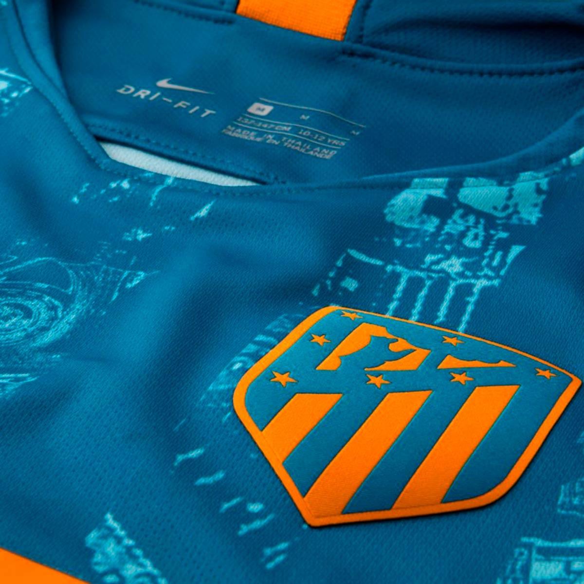 f9e7cff8891be Camiseta Nike Atletico de Madrid Stadium Tercera Equipación 2018-2019 Niño  Green abyss-Orange peel - Tienda de fútbol Fútbol Emotion
