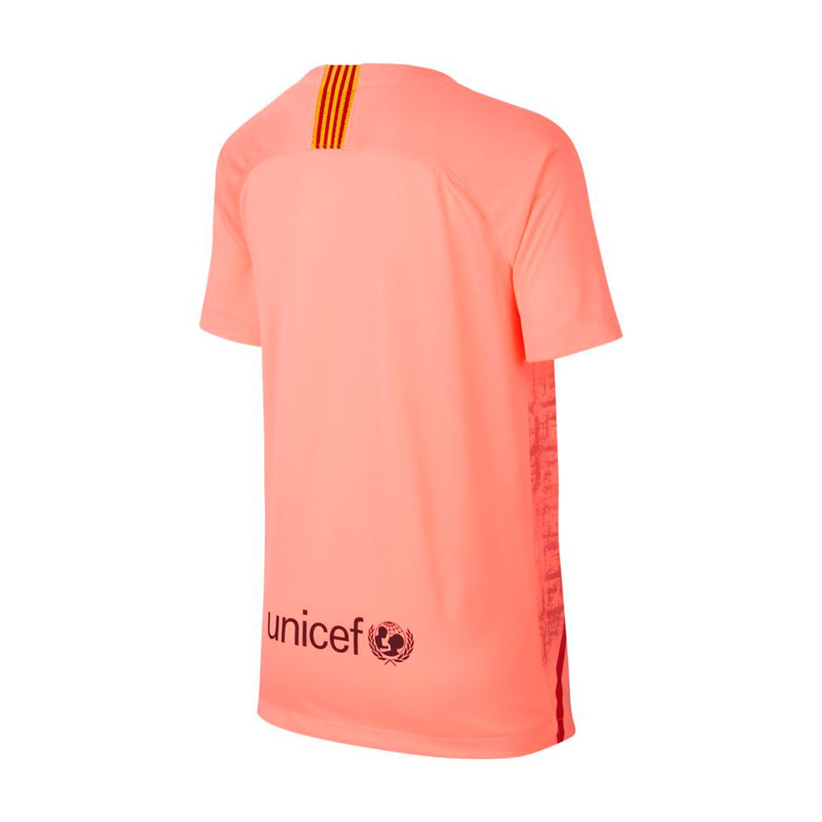 4856760cc44a6 Jersey Nike Kids FC Barcelona Stadium 2018-2019 Third Light atomic  pink-Silver - Leaked soccer