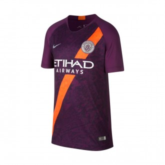 Camisola  Nike Manchester City FC Stadium Tercera Equipación 2018-2019 Niño Night purple