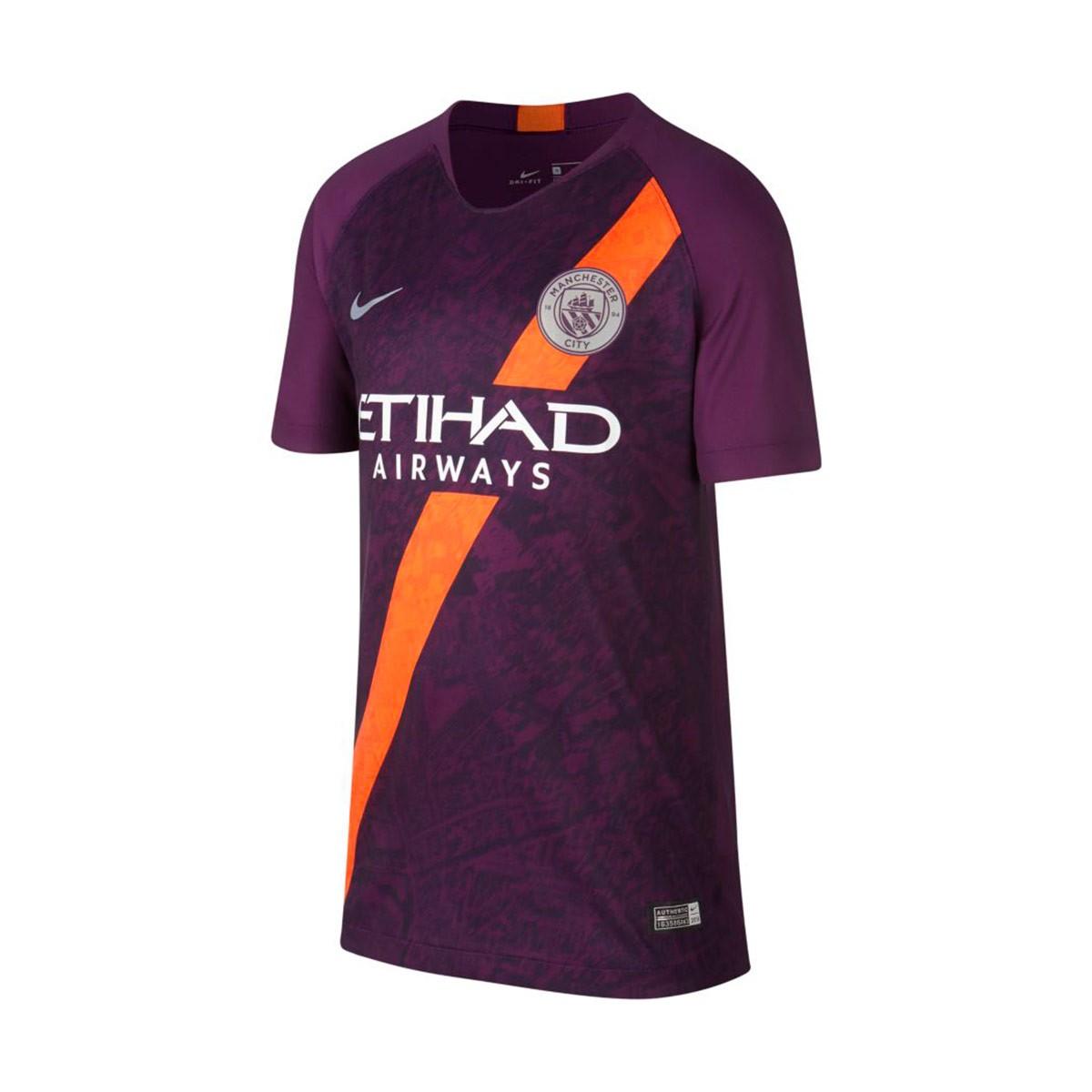 784cc0e6ed889 Jersey Nike Kids Manchester City FC Stadium 2018-2019 Third Night purple -  Tienda de fútbol Fútbol Emotion