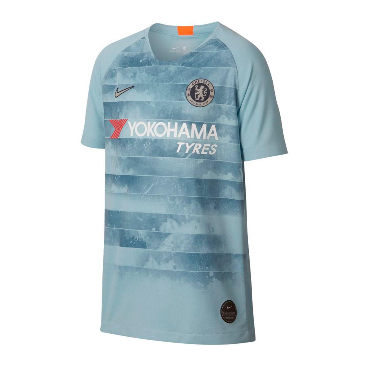 9e30121955554 Playera Nike Chelsea FC Stadium Tercera Equipación 2018-2019 Niño Ocean  bliss-Metallic silver - Tienda de fútbol Fútbol Emotion