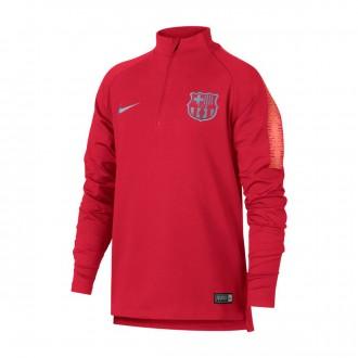 Sudadera  Nike Dry FC Barcelona Squad 2018-2019 Niño Tropical pink-Light atomic pink