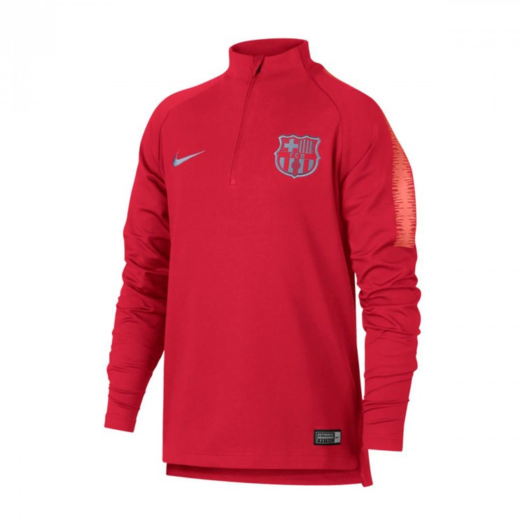 Nike FC Barcelona Dri-FIT Squad Drill Older Kids Long-Sleeve Football Top -  Pink  71acf9874ce
