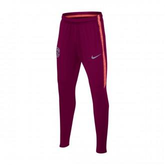 Tracksuit bottoms  Nike Dry FC Barcelona Squad 2018-2019 Niño Deep maroon-Light atomic pink