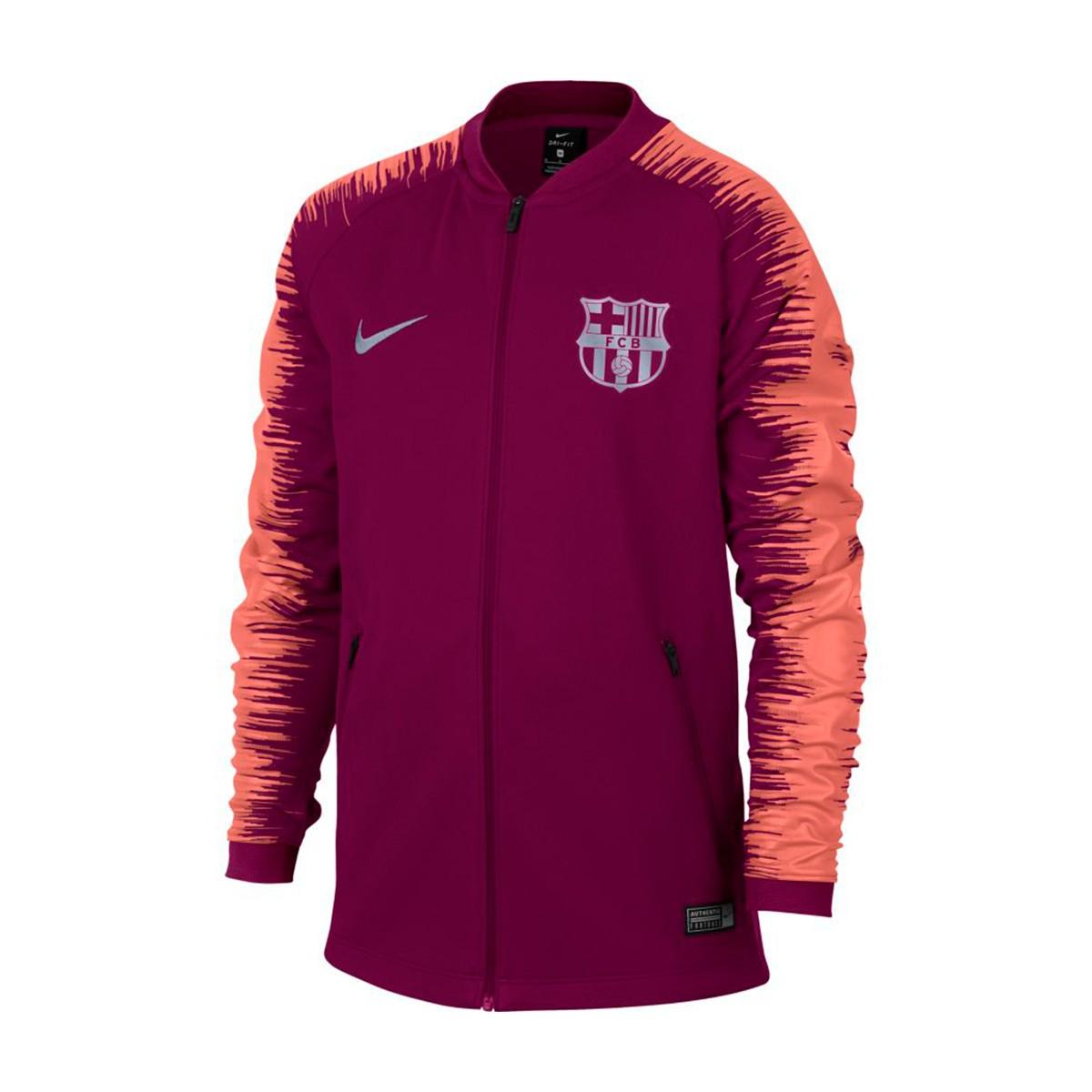 dafef2acfd9a3 Chamarra Nike FC Barcelona 2018-2019 Niño Deep maroon-Light atomic pink -  Tienda de fútbol Fútbol Emotion