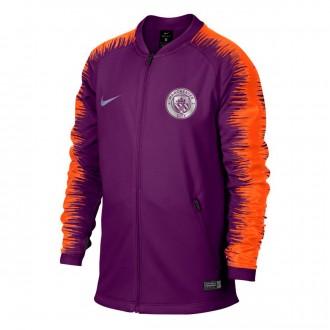 Jacket  Nike Kids Manchester City FC 2018-2019  Night purple-Safety orange