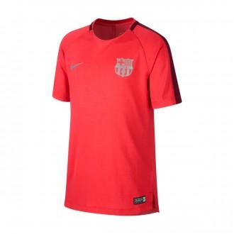 Camiseta  Nike Dry FC Barcelona Squad 2018-2019 Niño Tropical pink-Deep maroon