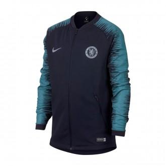 Sudadera  Nike Chelsea FC 2018-2019 Niño Obsidian-Celestial teal