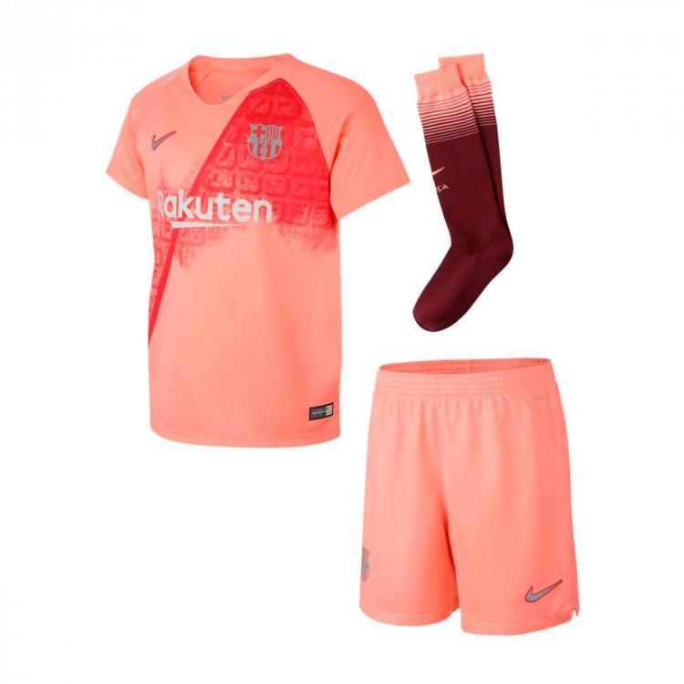 Conjunto Nike FC Barcelona Tercera Equipación 2018-2019 Niño Light ... d762bbb1fa95f