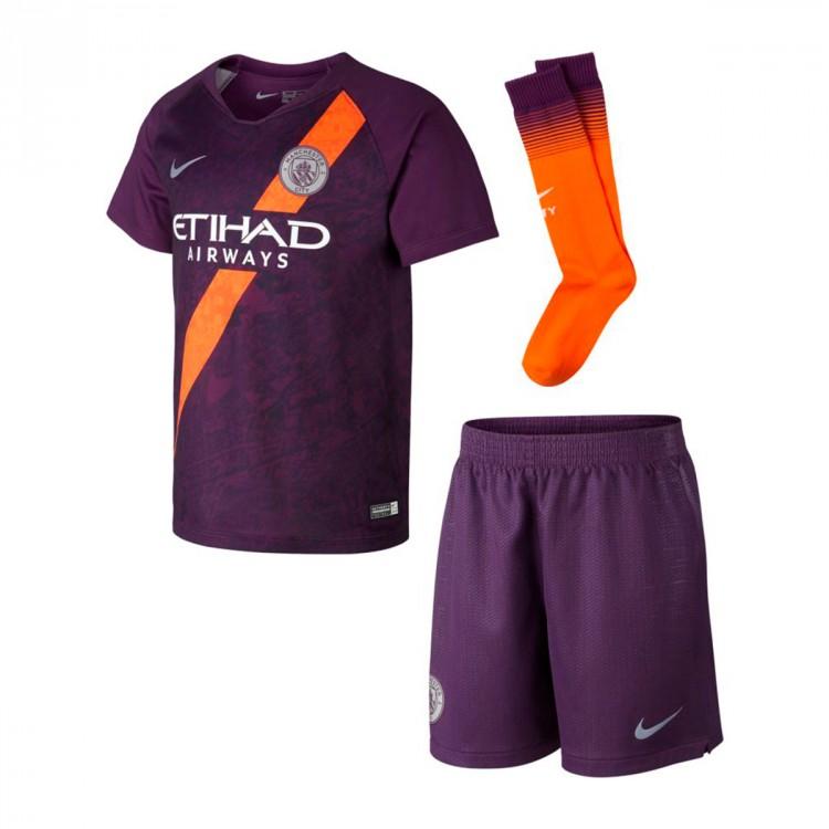 newest 36f0d dd849 Conjunto Manchester City FC Tercera Equipación 2018-2019 Niño Night purple