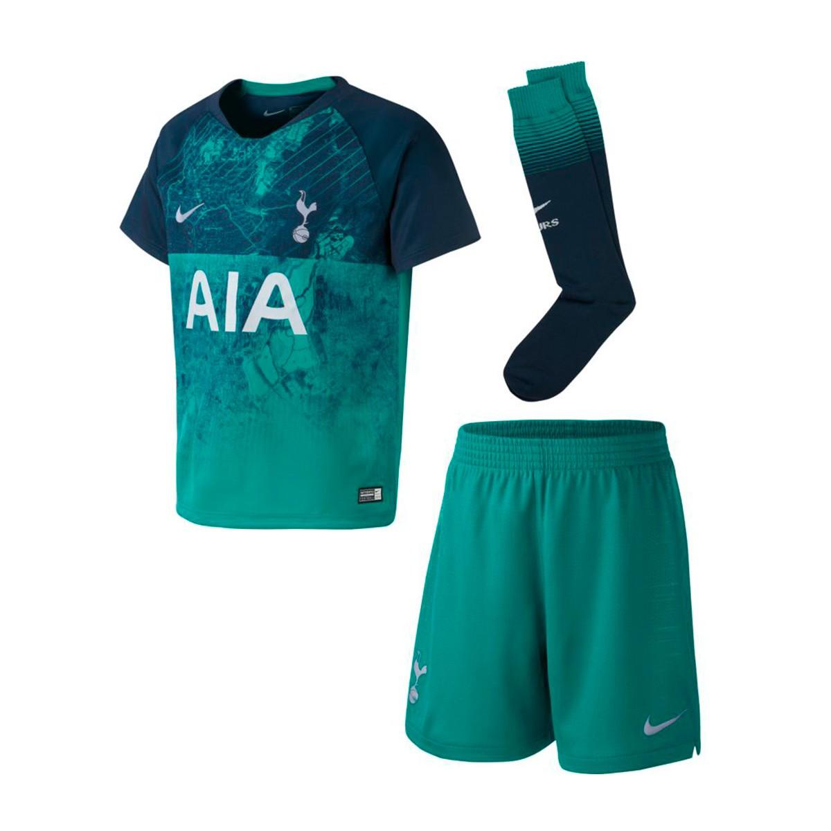 0e57bec9c08b3 Conjunto Nike Tottenham Hotspur FC Tercera Equipación 2018-2019 Niño  Neptune green-Armory navy - Tienda de fútbol Fútbol Emotion