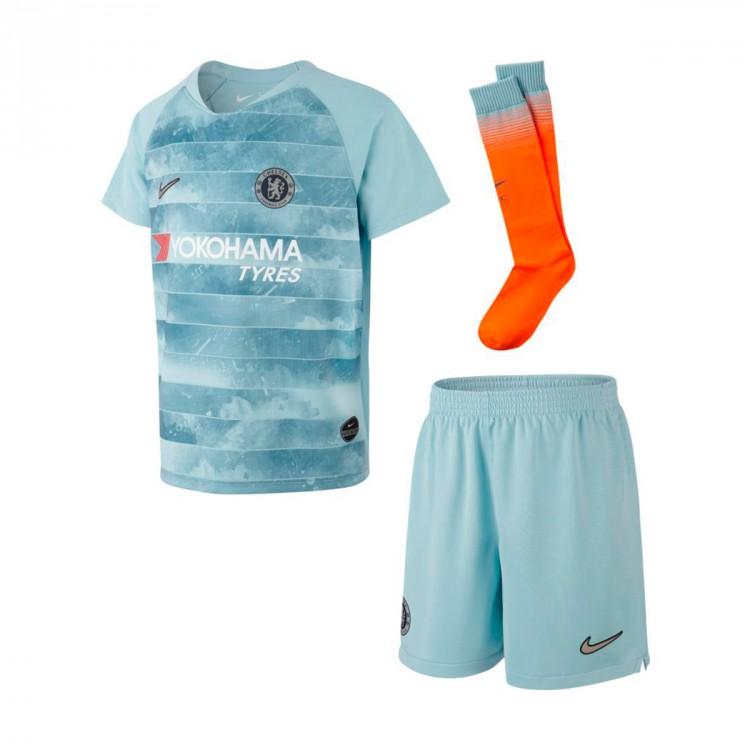 Conjunto Nike Chelsea FC Tercera Equipación 2018-2019 Niño Ocean ... 48fdf5bddcd