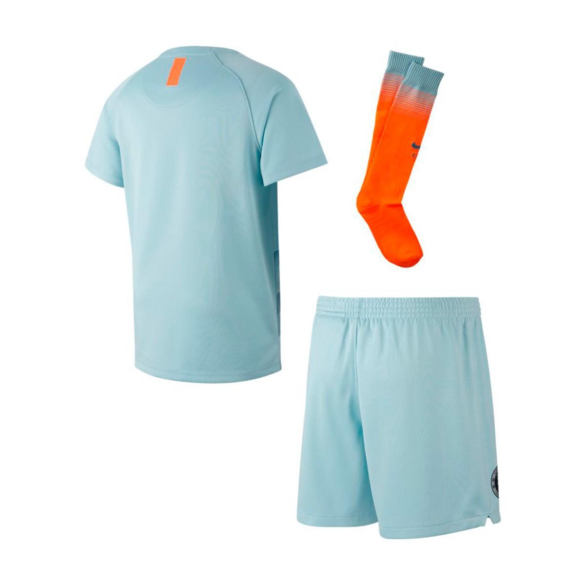 Kit Nike Kids Chelsea FC 2018-2019 Third Ocean bliss-Metallic silver ... 10a1bbf95adac