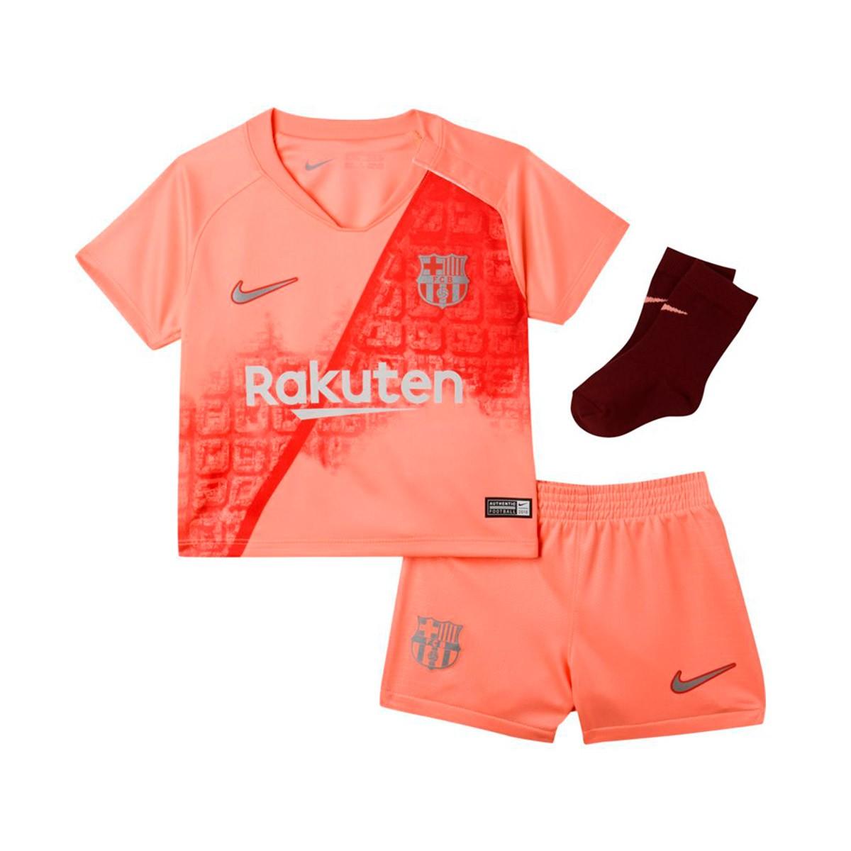 733bcc43098ab Conjunto Nike Bebé FC Barcelona Tercera Equipación 2018-2019 Light atomic  pink-Silver - Tienda de fútbol Fútbol Emotion