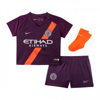 Conjunto  Nike Bebé Manchester City FC Tercera Equipación 2018-2019 Night purple