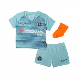 Conjunto  Nike Bebé Chelsea FC Tercera Equipación 2018-2019 Ocean bliss-Metallic silver