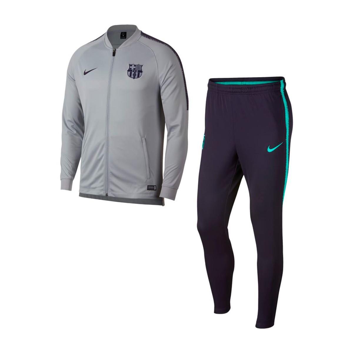 ec13eceea Nike Dry FC Barcelona Squad 2018-2019 Tracksuit. Wolf grey-Purple dynasty  ...