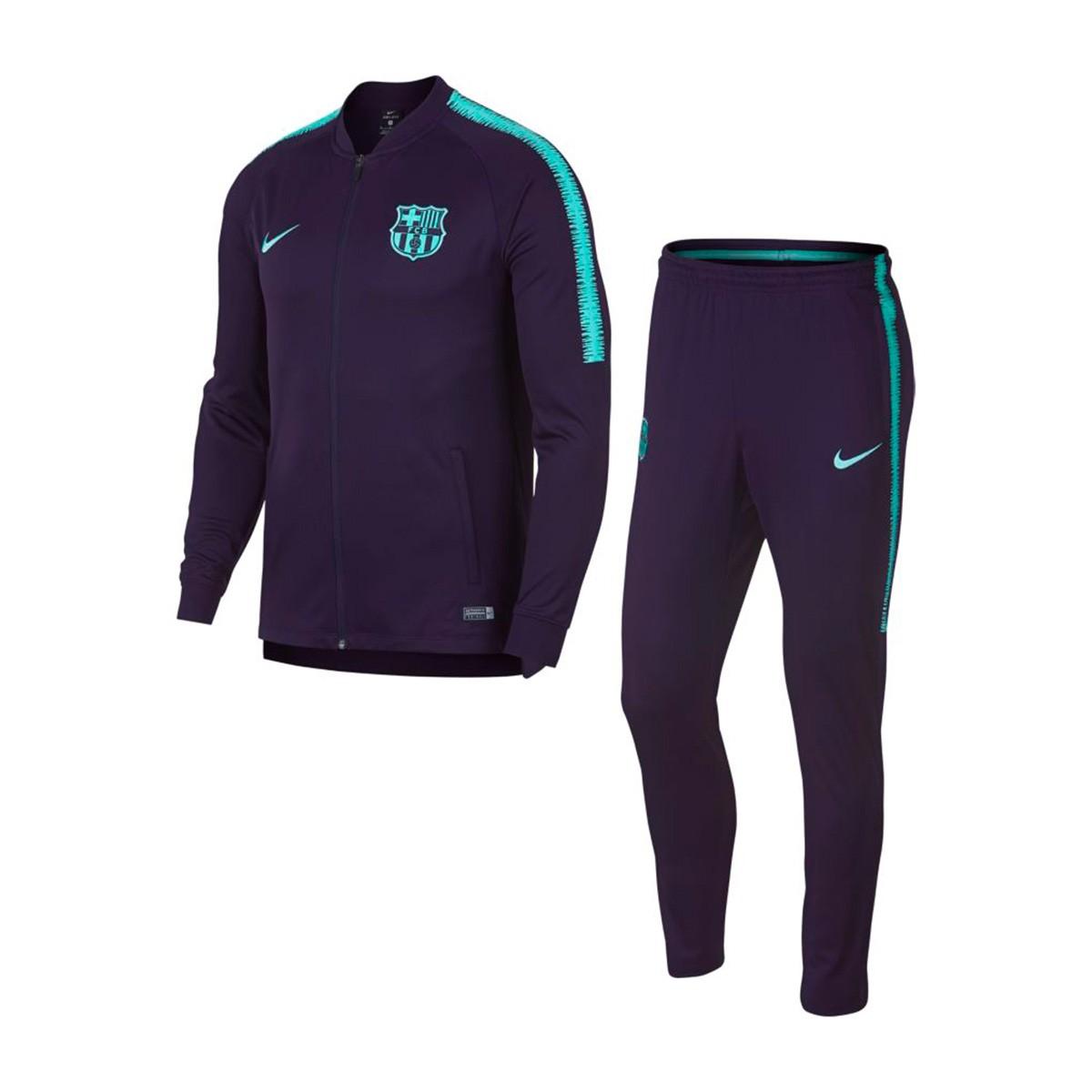 Tracksuit Nike Dry FC Barcelona Squad 2018-2019 Purple dynasty-Hyper ... 19365f7f201