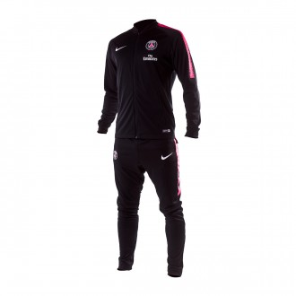 Tracksuit  Nike Paris Saint-Germain Squad 2018-2019 Black-Hyper pink-White