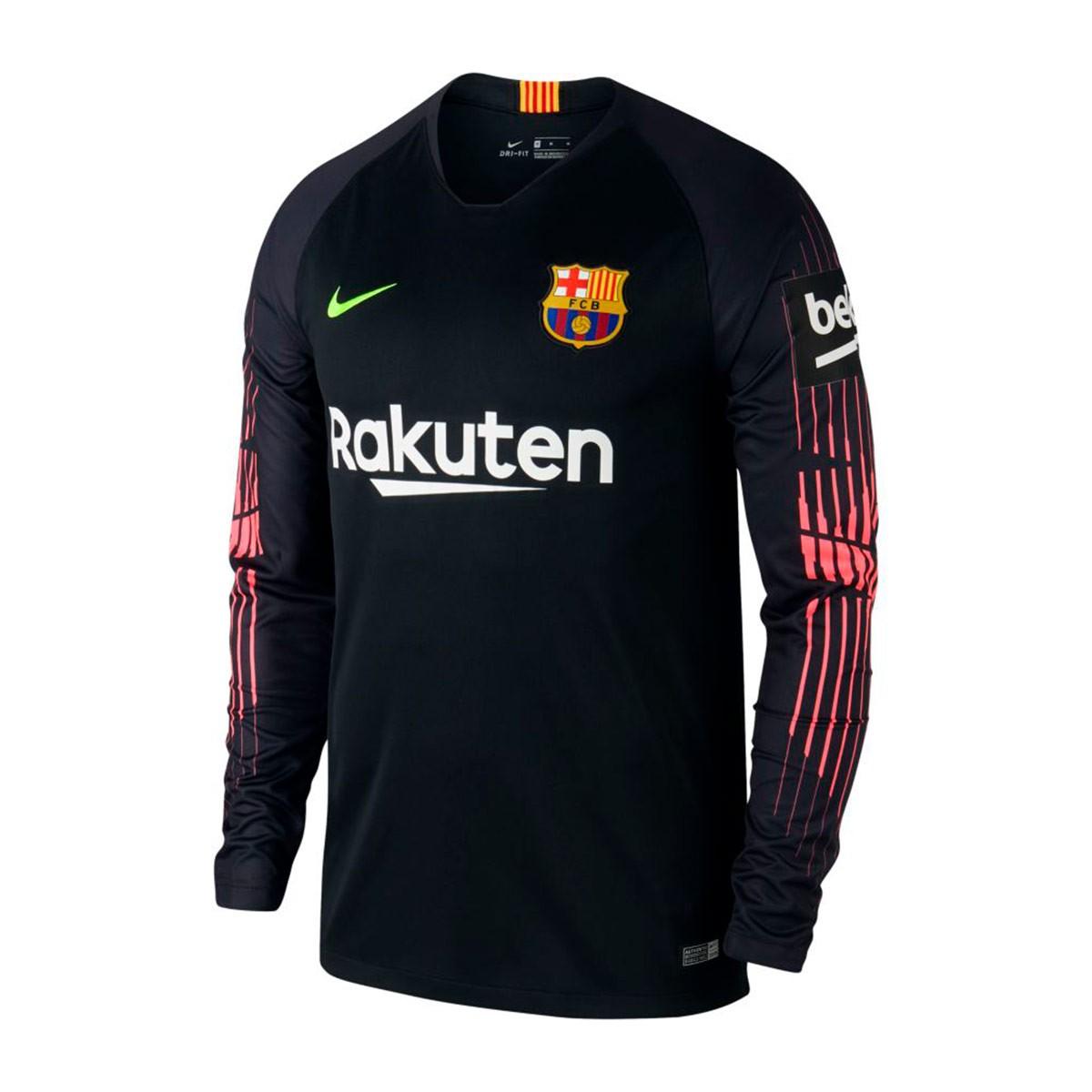 225e0fd5041c2 Jersey Nike Goalkeeper FC Barcelona Stadium 2018-2019 Black-Volt ...