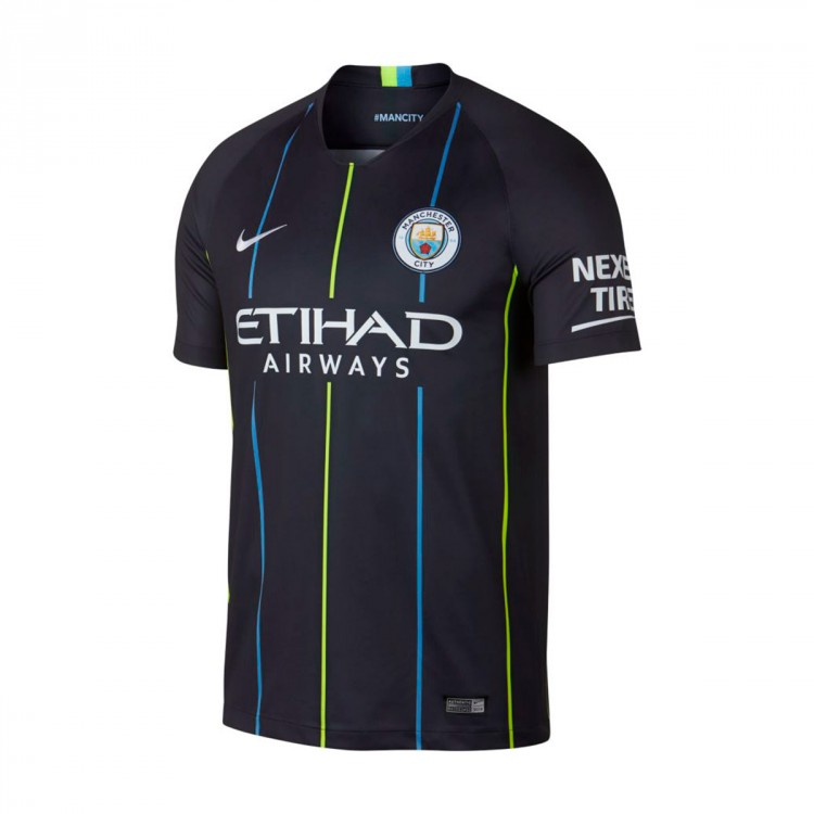 Camiseta Nike Manchester City FC Stadium Segunda Equipación 2018-2019 Dark obsidian-White ...