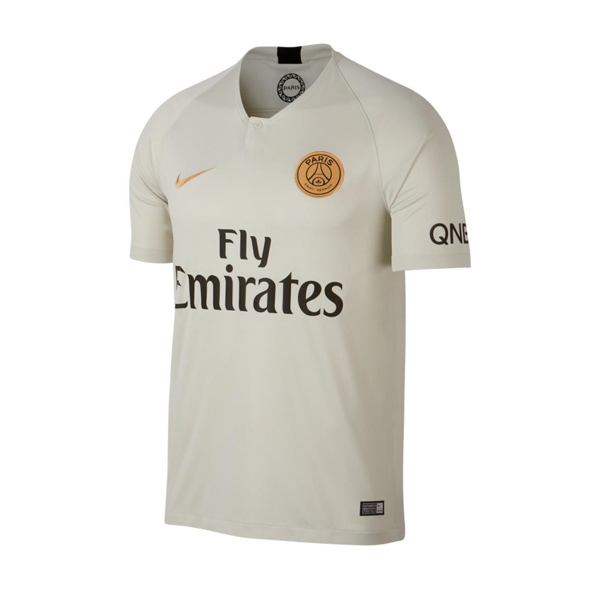 new style 236f9 473a6 Jersey Nike Paris Saint-Germain Stadium 2018-2019 Away Light bone-Truly  gold - Football store Fútbol Emotion