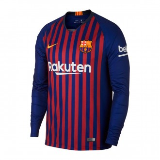 Camiseta  Nike FC Barcelona Stadium L/S Primera Equipación 2018-2019 Deep royal blue-University gold