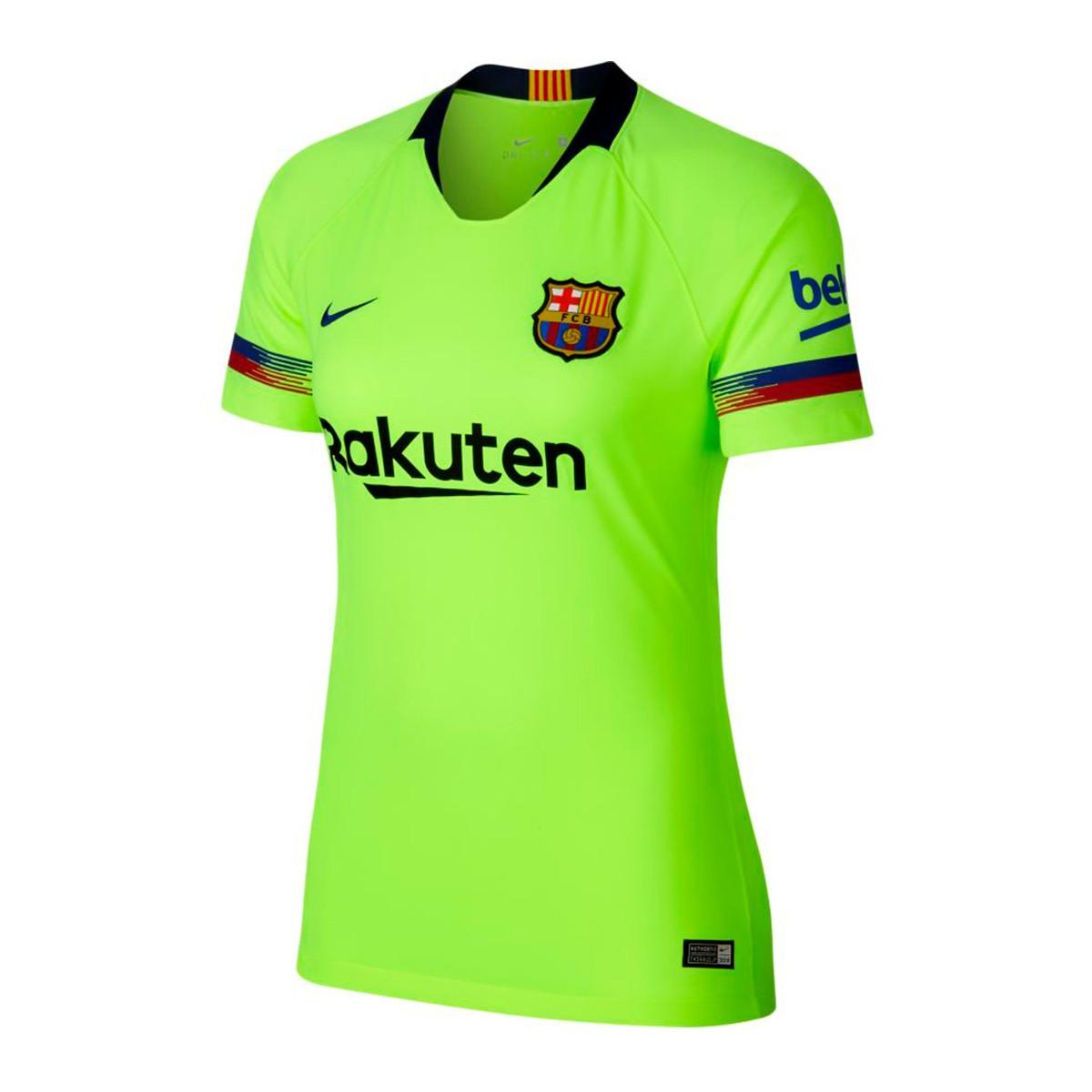 fc42780062043 Camiseta Nike FC Barcelona Stadium Segunda Equipación 2018-2019 Mujer  Volt-Deep royal blue - Tienda de fútbol Fútbol Emotion
