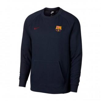 Sweatshirt  Nike Sportswear FC Barcelona 2018-2019 Obsidian-Cobalt tint-Noble red